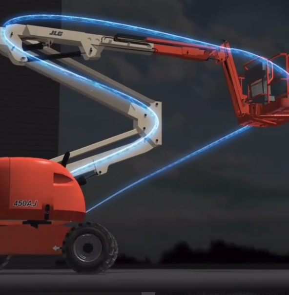 Animation of 3D crane used for marketing for a manufacture